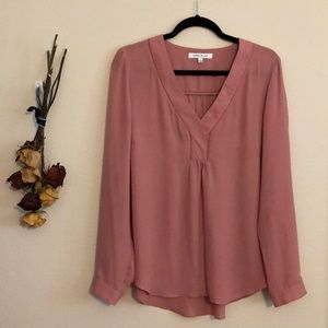 Blush Long Sleeve Blouse